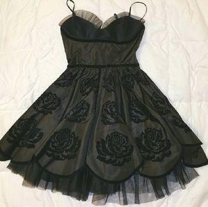 Betsey Johnson Black Rose Cupcake Dress